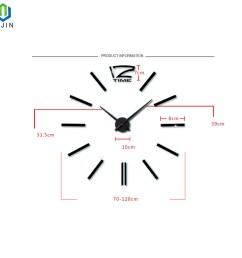 super large acrylic diy wall clock simple living room decorating wall clock [ 1500 x 1500 Pixel ]