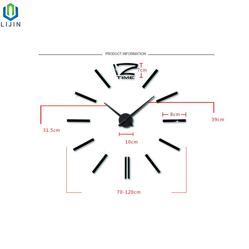 medium resolution of super large acrylic diy wall clock simple living room decorating wall clock