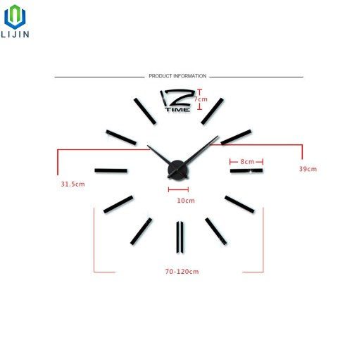 small resolution of super large acrylic diy wall clock simple living room decorating wall clock