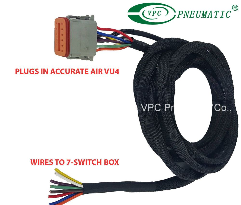 medium resolution of china air ride suspension vu4 wiring harness connects valves to any avs switch box china air ride suspension air ride valve