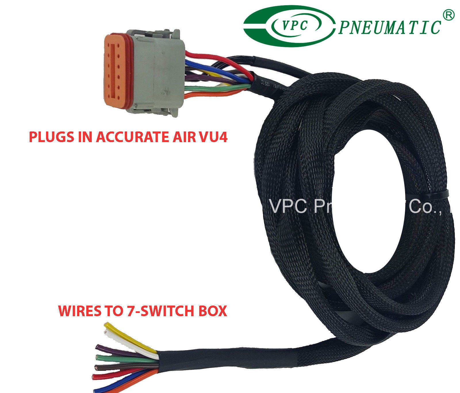 hight resolution of china air ride suspension vu4 wiring harness connects valves to any avs switch box china air ride suspension air ride valve