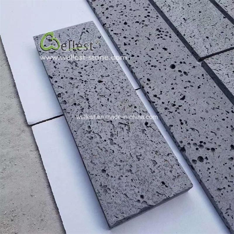china black basalt lava stone tile for