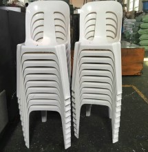 China Popular Stackable Armless Chairs Top