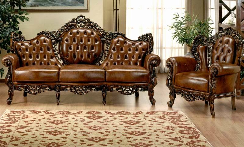 This Sofa Is Infused With Extremely Rich And Stunning Details Of Grand  Traditional Designs. Take A Close A Look At This Set Of Leather Sofa, You  Will Find ...
