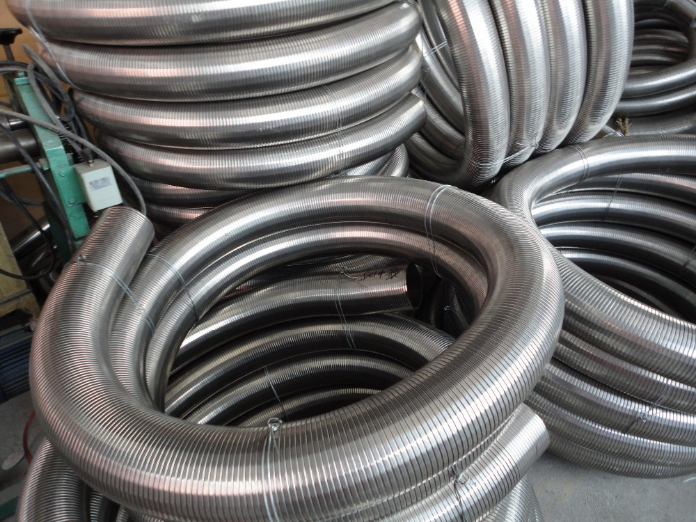 stainless steel flexible exhaust tubing