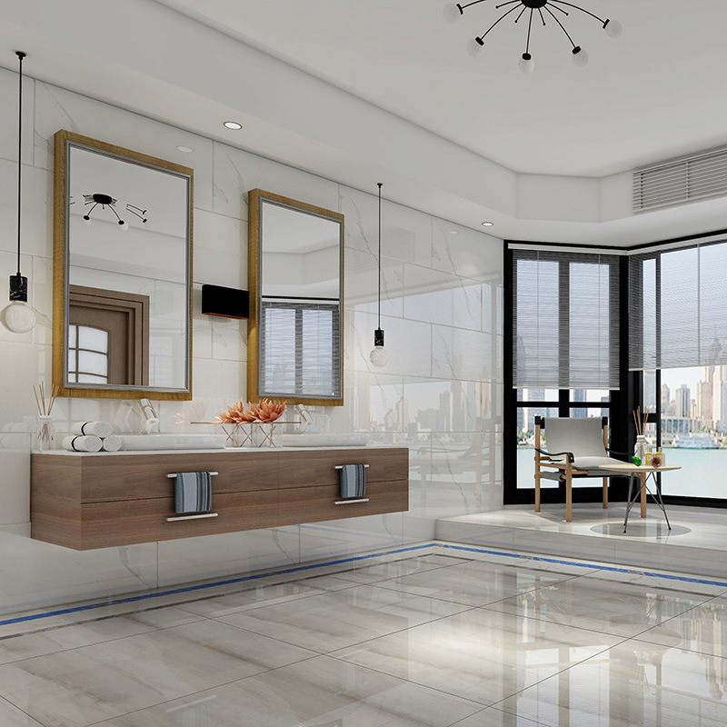 hot item 24x48 high quality modern style copy marble white glazed porcelain tile for wall and floor
