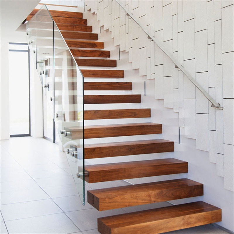China Invisible Stringer Wooden Floating Staircase Tempered Glass | Tempered Glass Panels For Stairs | Metal | Glass Balustrade | Newel Post | Acrylic | Bannister