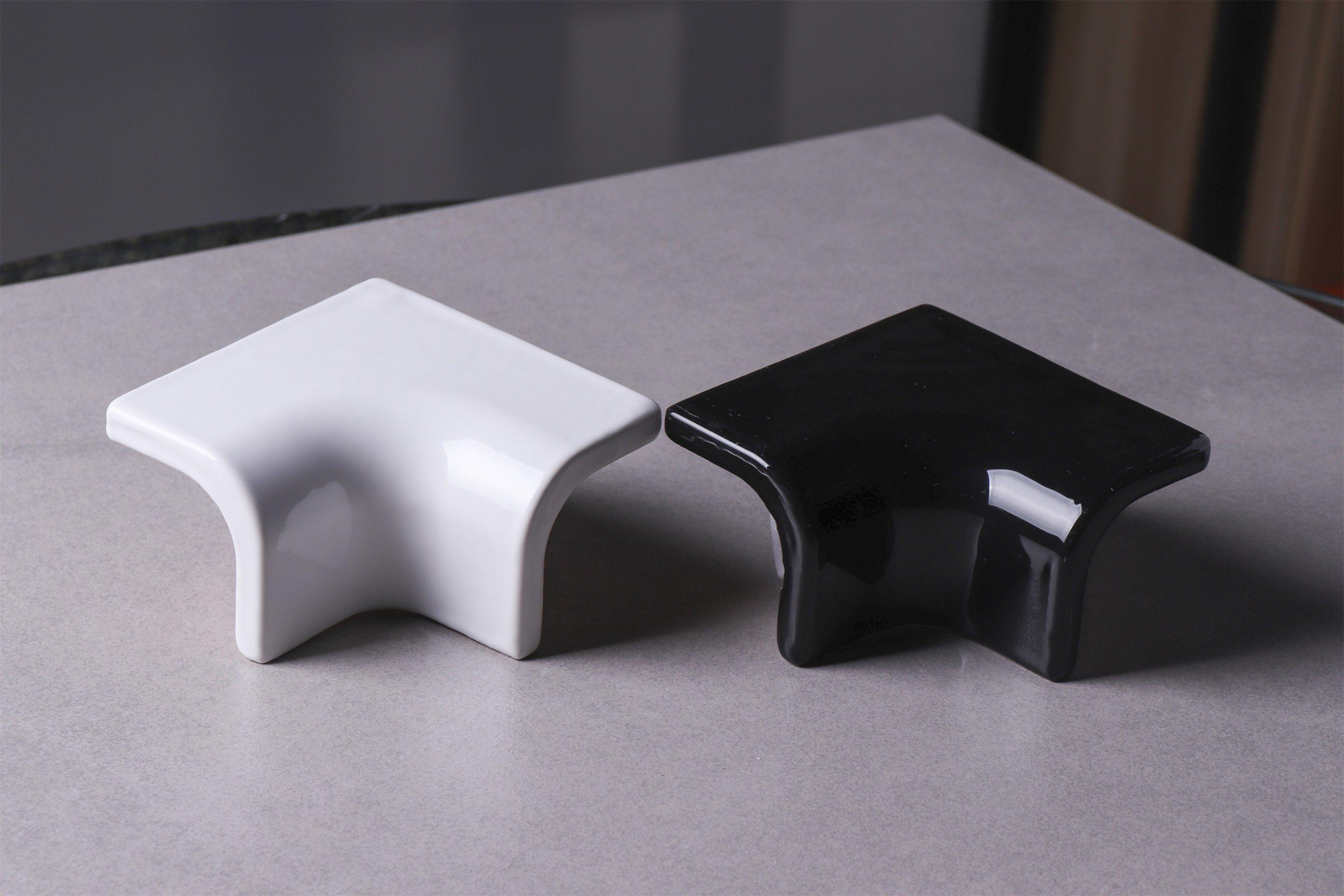 hot item white black ceramic tile trim corner edge curved tile bullnose tiles brick tile accessories
