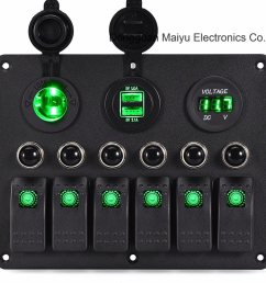 china car marine circuit led on off toggle rocker switch panels china 6 gang rocker switch panel [ 1311 x 1222 Pixel ]