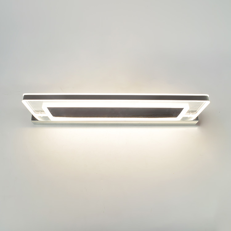China Led Bathroom Vanity Lighting Fixtures Long Shade Stainless Steel Bath Mirror Lamps Wall Lights Makeup Mirror Front Light China Bathroom Mirror