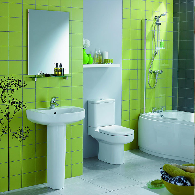 China Apple Green Glazed Bathroom Wall Tile 6x6 Inch 150x150mm Photos Pictures Made In China Com