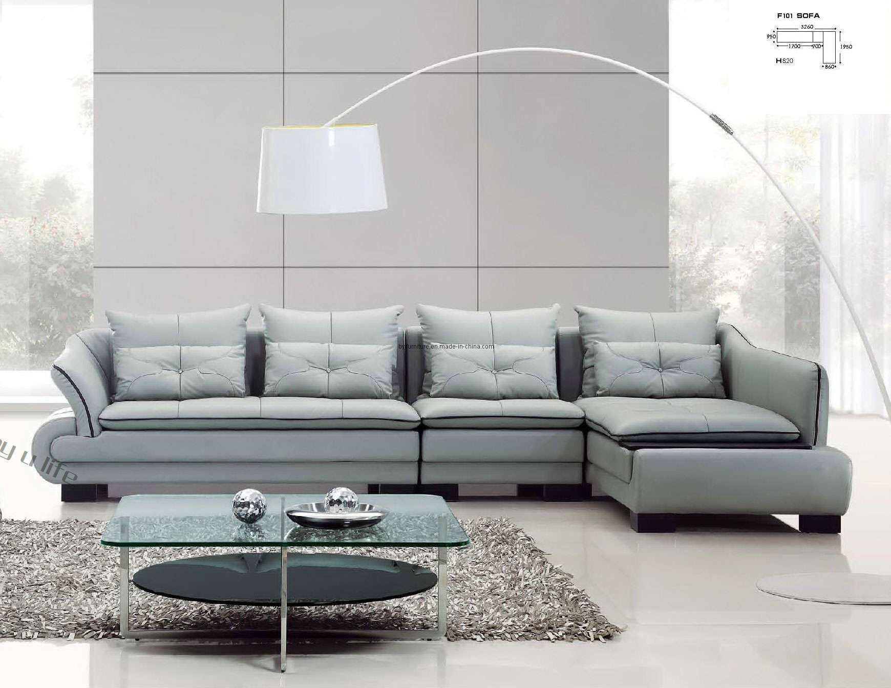 leather modern sofa emma 2 piece sectional and chaise set china f101