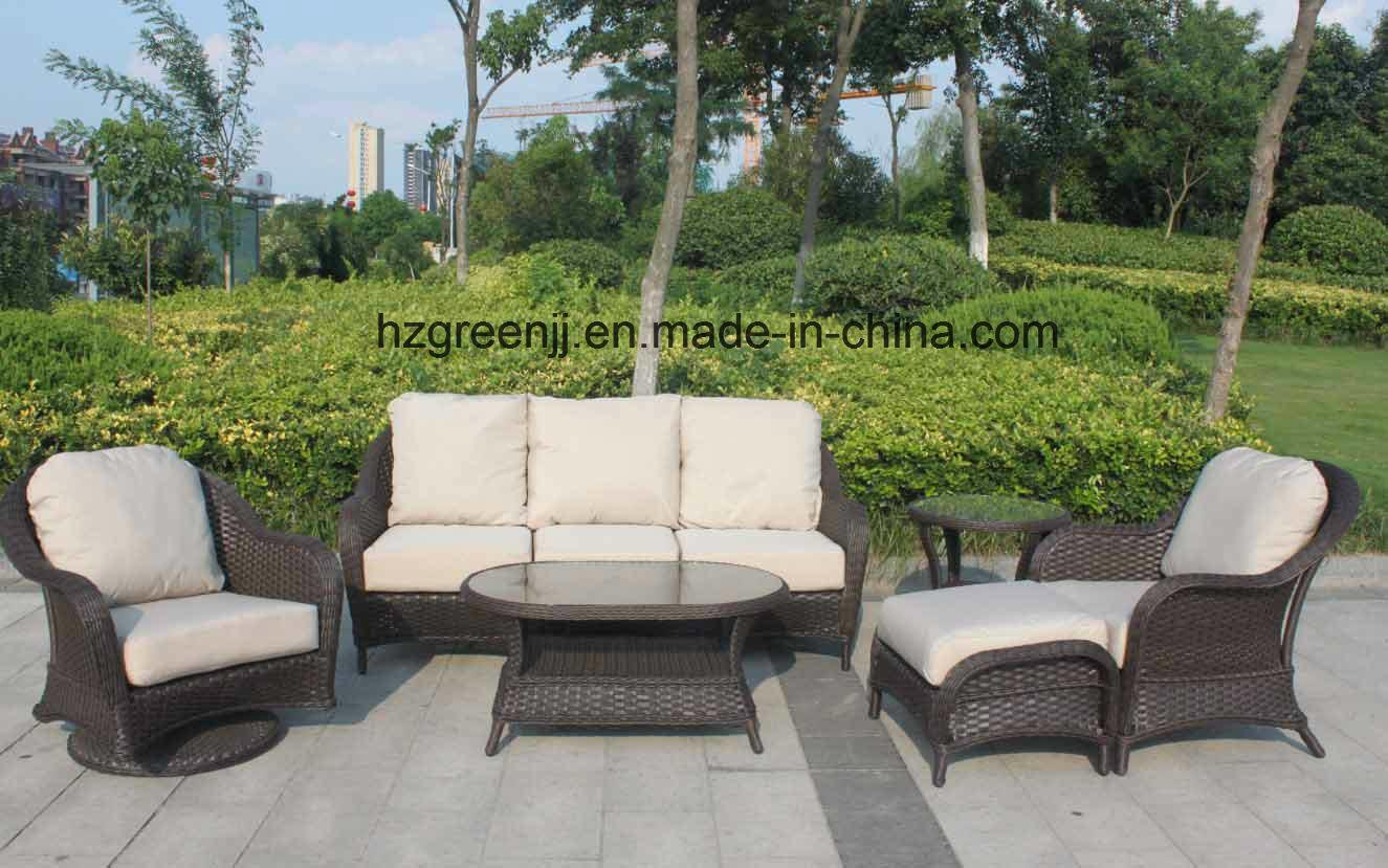 rattan half moon sofa set sofas madrid centro china 6 pieces round wicker garden furniture 0300