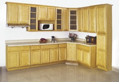 China American Kitchen Furniture Solid Wood Maple Kitchen