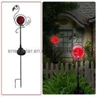 Decorative Solar Garden Lights Photograph | Solar Iron Decor