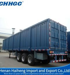china 3 axle box semi trailer dry food van truck trailer for sale china truck trailer van truck trailer [ 1000 x 1000 Pixel ]