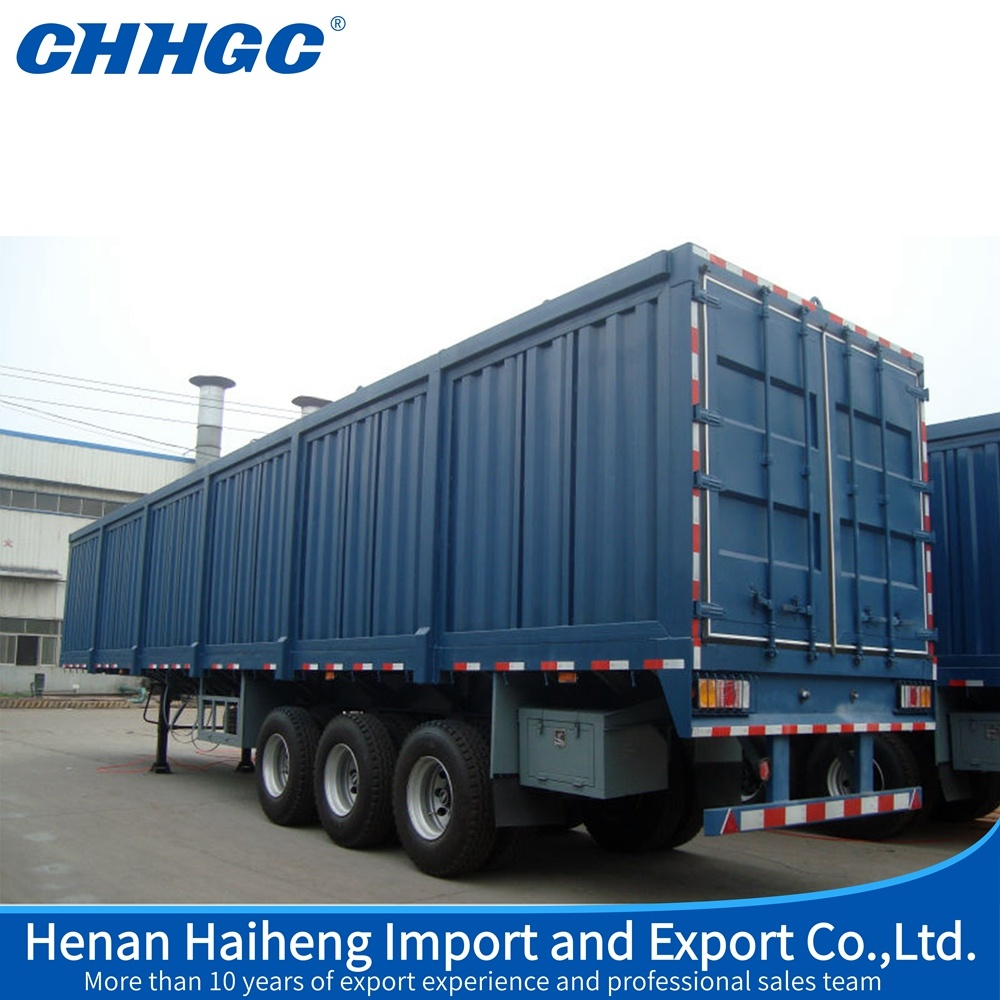 hight resolution of china 3 axle box semi trailer dry food van truck trailer for sale china truck trailer van truck trailer