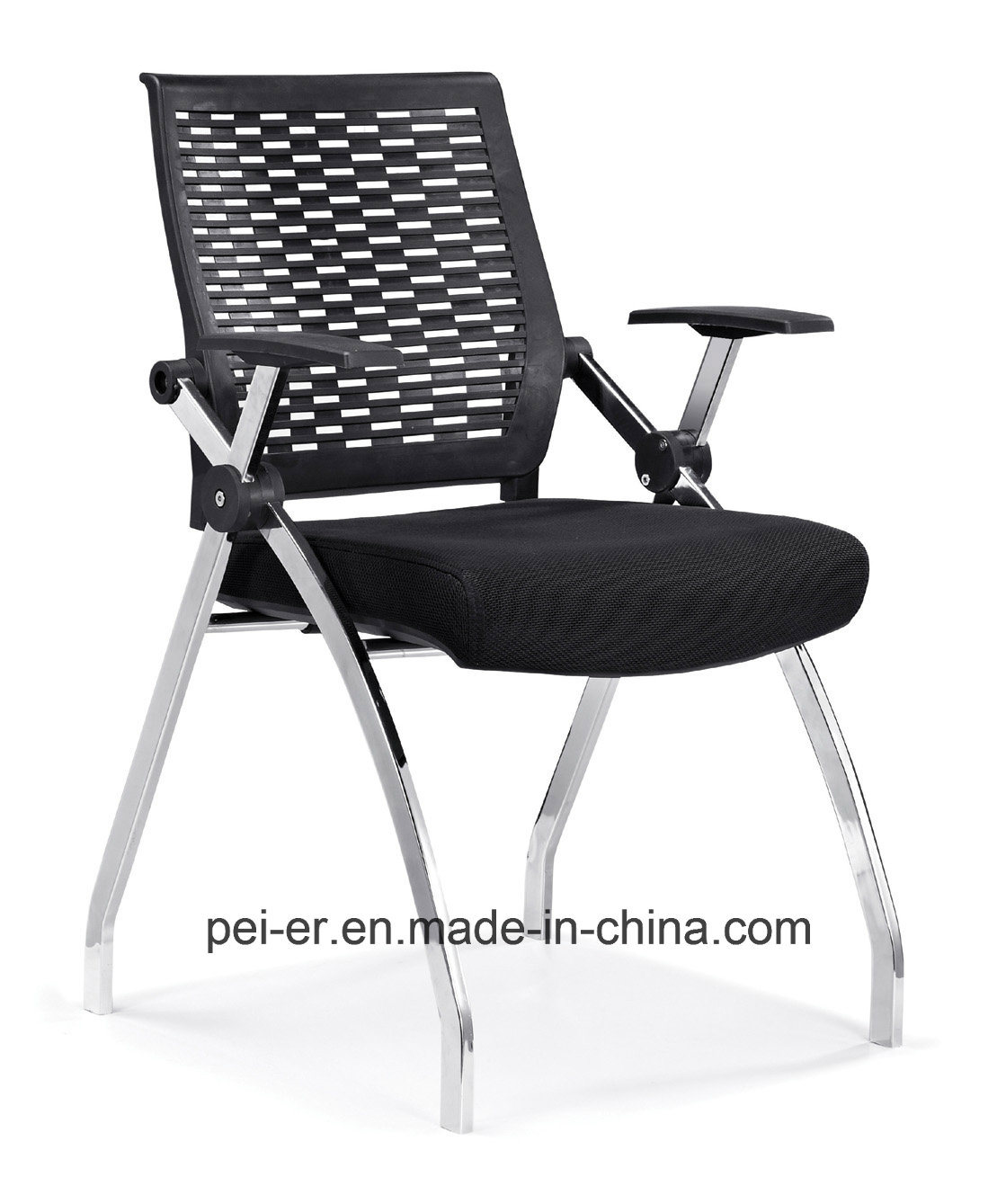 folding chair nylon crate and barrel brown leather recliner club china modern furniture adjustable arm h633 training