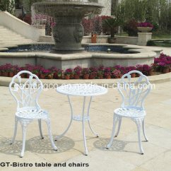All Weather Garden Chairs Swing Chair White China 3 Pieces Outdoor Patio Cast Aluminum Furniture Table