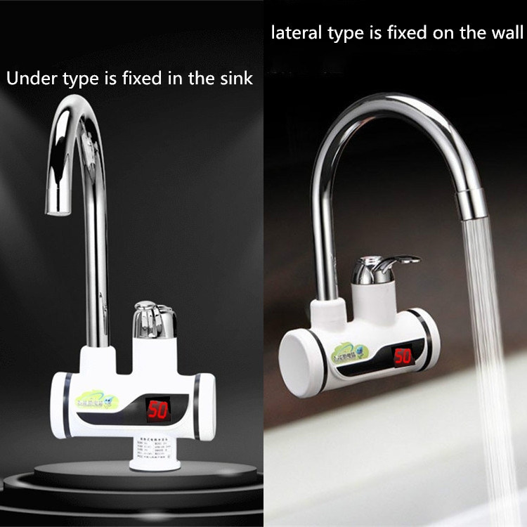 hot item electric kitchen water heater tap instant hot water faucet heater cold heating faucet tankless instantaneous water heater