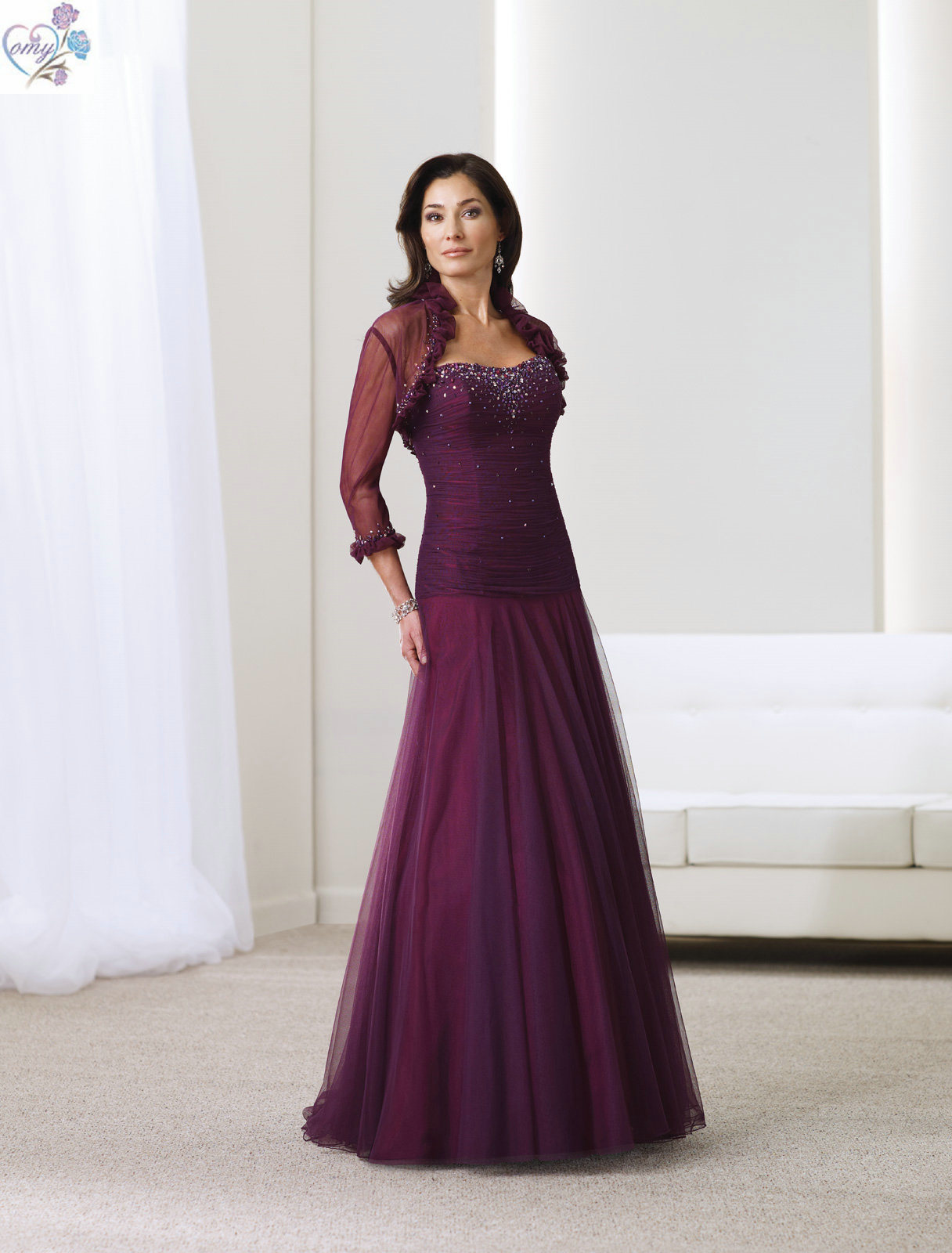 China Purple Mother of The Bride Dress (MD005)