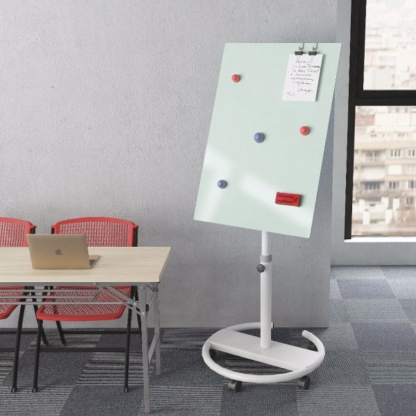 China Movable Mini Magnetic Whiteboard With 4 Wheels Stand