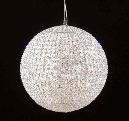 China 18 Inch Steel LED Round Crystal Ball Chandelier