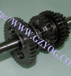 yog motorcycle spare parts engine gear box main shaft kit counter shaft complete cg125 150 70cc st90 at110 ybr125 dy100 biz110 gn125 en125hu cgl125 horse  [ 1024 x 768 Pixel ]