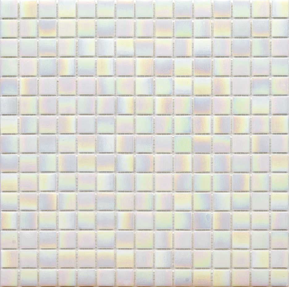 hot item iridescent vitreous white tiles glass mosaics for bathroom wall