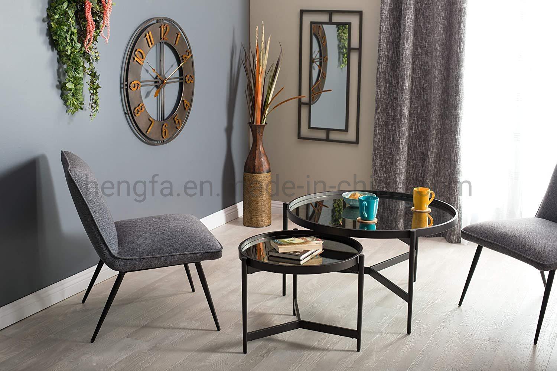 black modern round coffee table leg