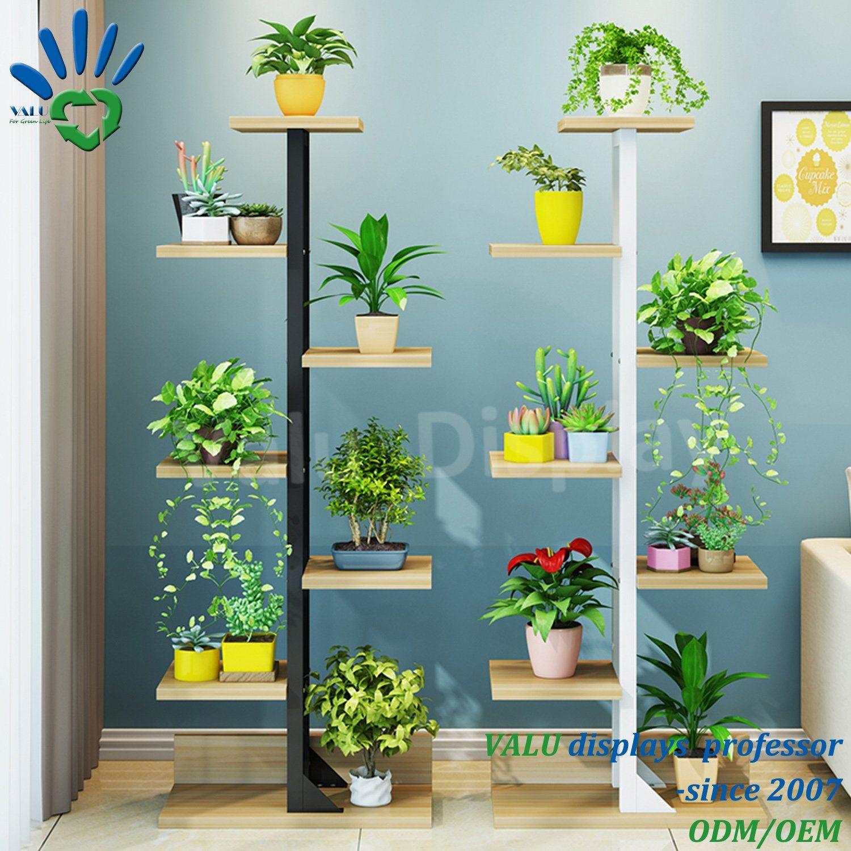 China Premium Bamboo Wooden Metal Plant Stand Indoor Outdoor Garden Planter Flower Pot Shelf China Shelves Organizer Garden And Plant Stand Price