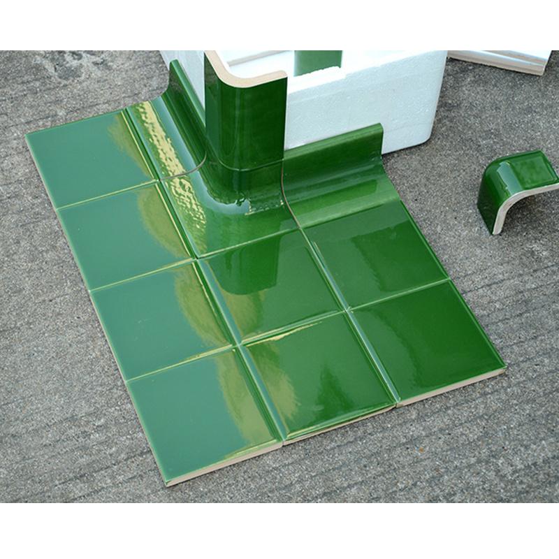 hot item dark green ceramic tile trim corner edge used in washroom
