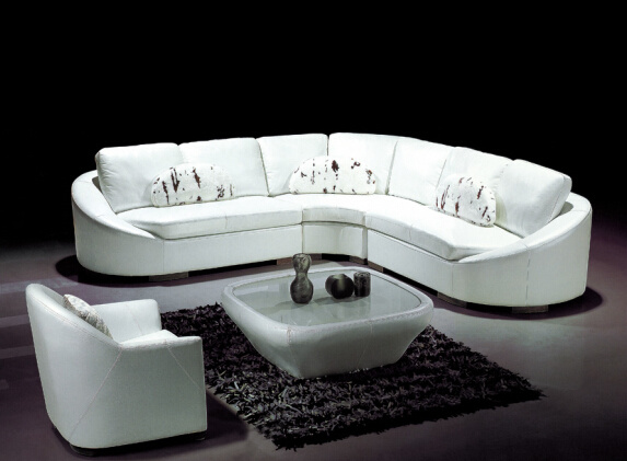china white leather sectional sofa hot