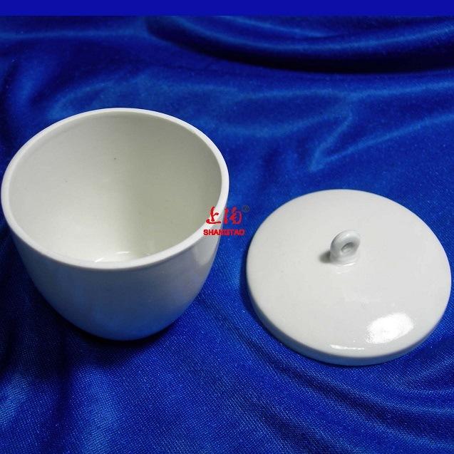 China 50ml 100ml. 500ml Glazed Porcelain Crucible with Lid - China Ceramic Crucible. Crucible with Lid