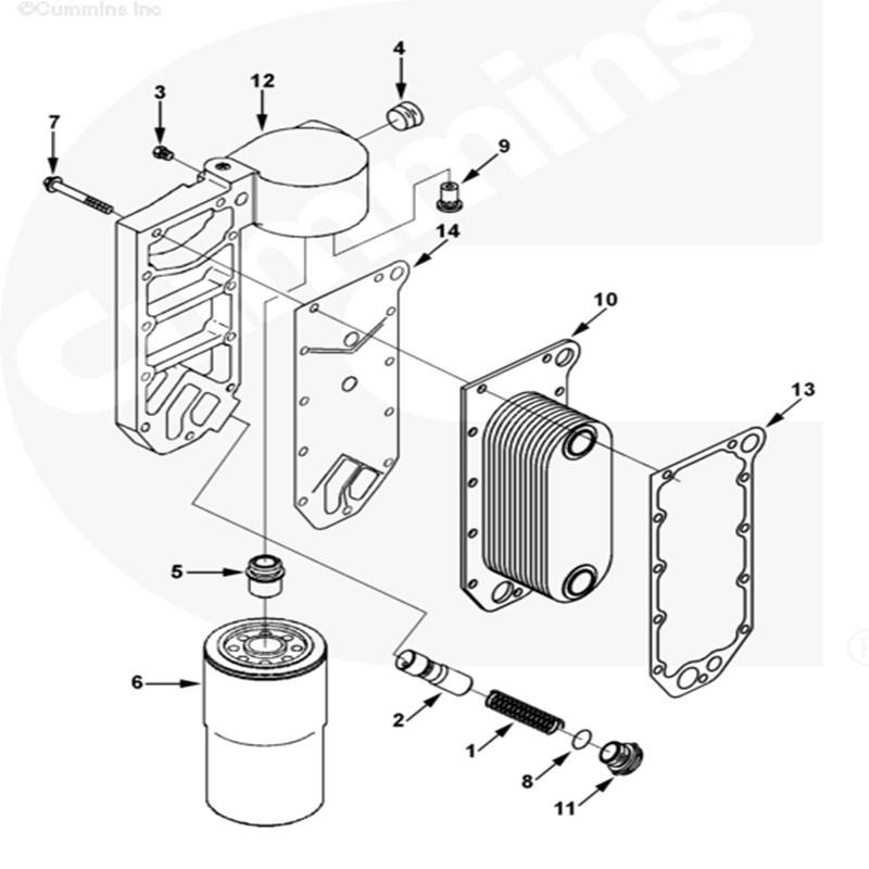 China Cummins 6CT Engine Oil Cooler Core 3974815 3918175