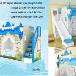 China Blue Color Fairly Bunk Bed Castle Bed For Boy China Bunk Beds Loft Beds