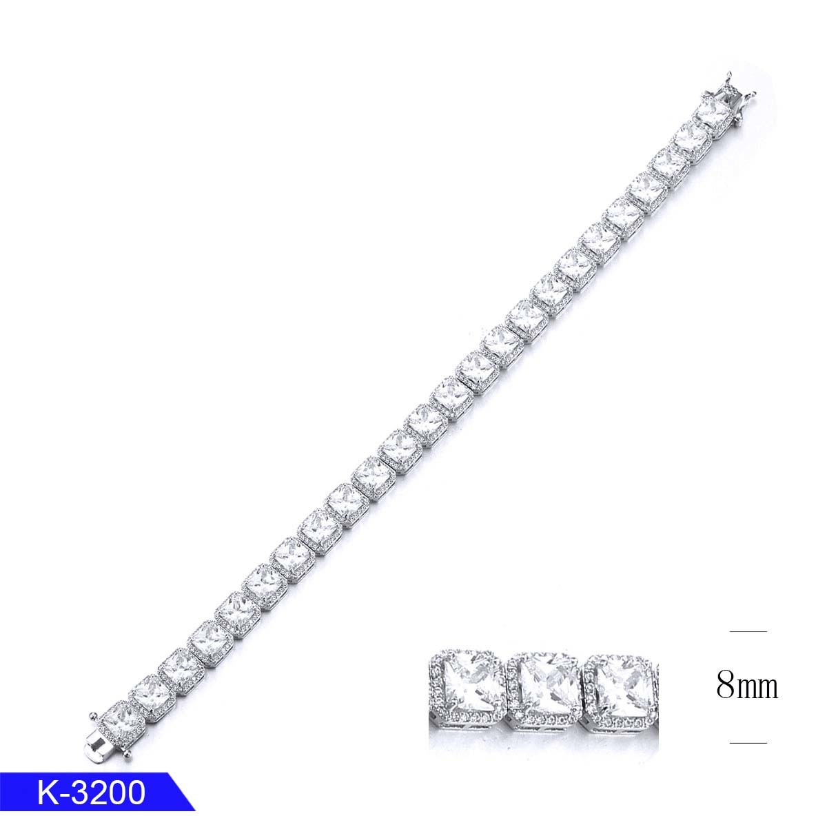 China Silver Jewelry Tennis Bracelets 925 Sterling Silver