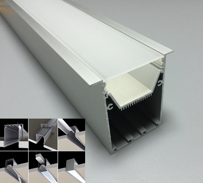 China Large Recessed Aluminum Led Strip Profile For Ceiling Lights China Architectural Led Profile Led Aluminum Profile