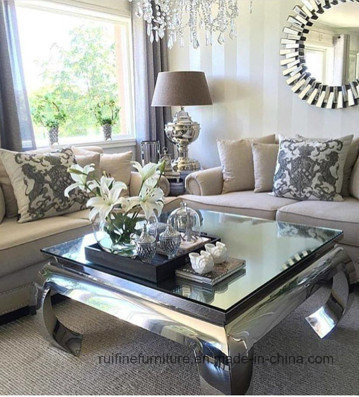 china modern mirrored coffee table for
