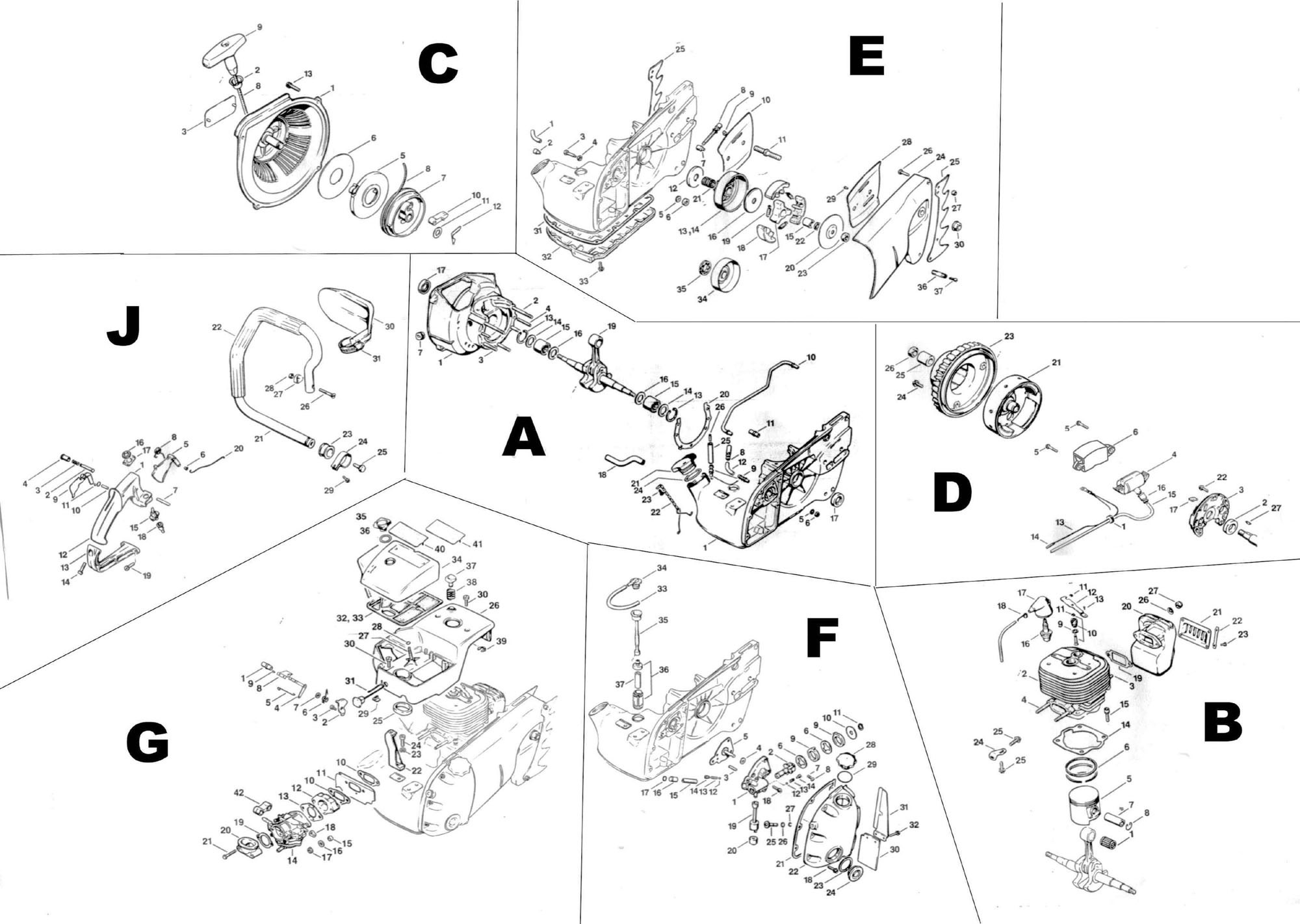 stihl ms 441 parts diagram 2002 vw beetle alternator wiring 270 engine diagrams replacement chain