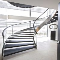 China Modern Curved Glass Staircases / Helical Staircase ...