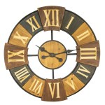 China Round Wooden Metal Clock With Carved Roman Numbers China Wall Deco And Home Decoration Price