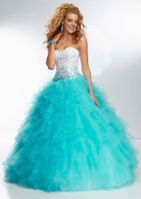 Blue Puffy Prom Dress | New Style for 2016-2017