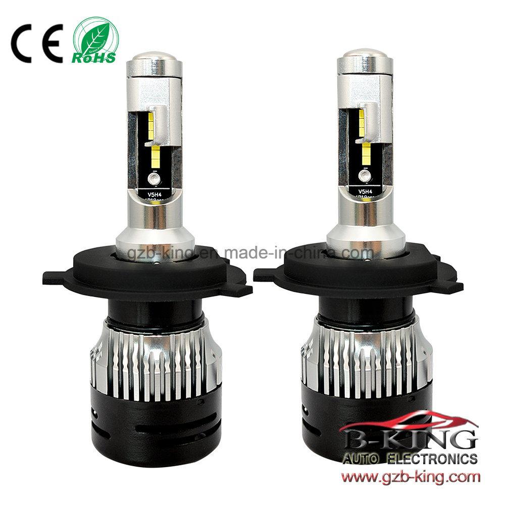 hight resolution of china small size h4 3000lm flip chip led bulbs hi low beam car headlight 6000k with perfect light shape china car led headlight d1 car led light
