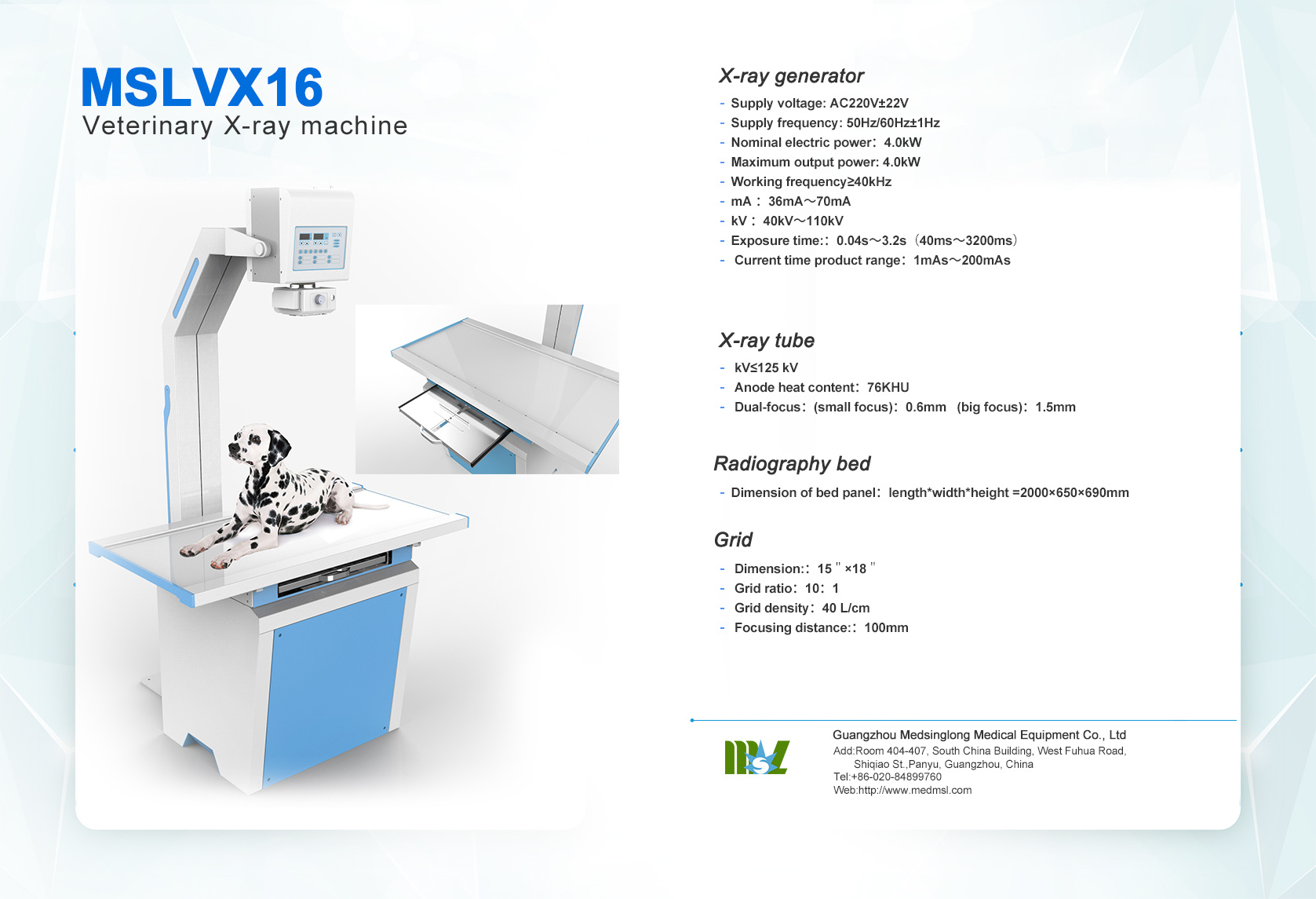 hight resolution of professional top china manufacturer radiology equipment 4 0kw 70ma veterinary x ray equipment mslvx16