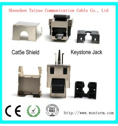 china shield cat5e keystone jacket module connector mactisical rj45 cat 5e ethernet module lightning proof in line couplers china cat6 keystone jack  [ 1000 x 1000 Pixel ]