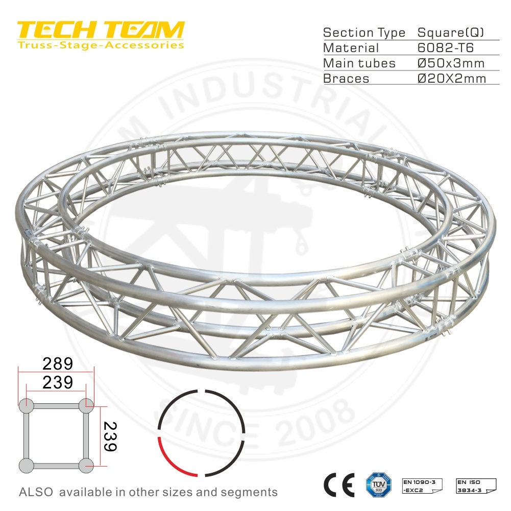 hight resolution of aluminum backdrop bolt circle truss with tuv mark certification