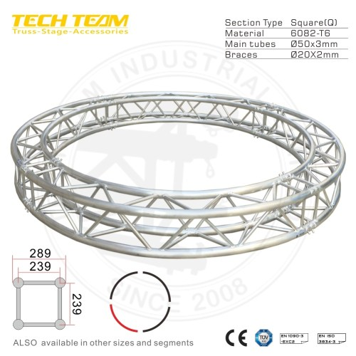 small resolution of aluminum backdrop bolt circle truss with tuv mark certification