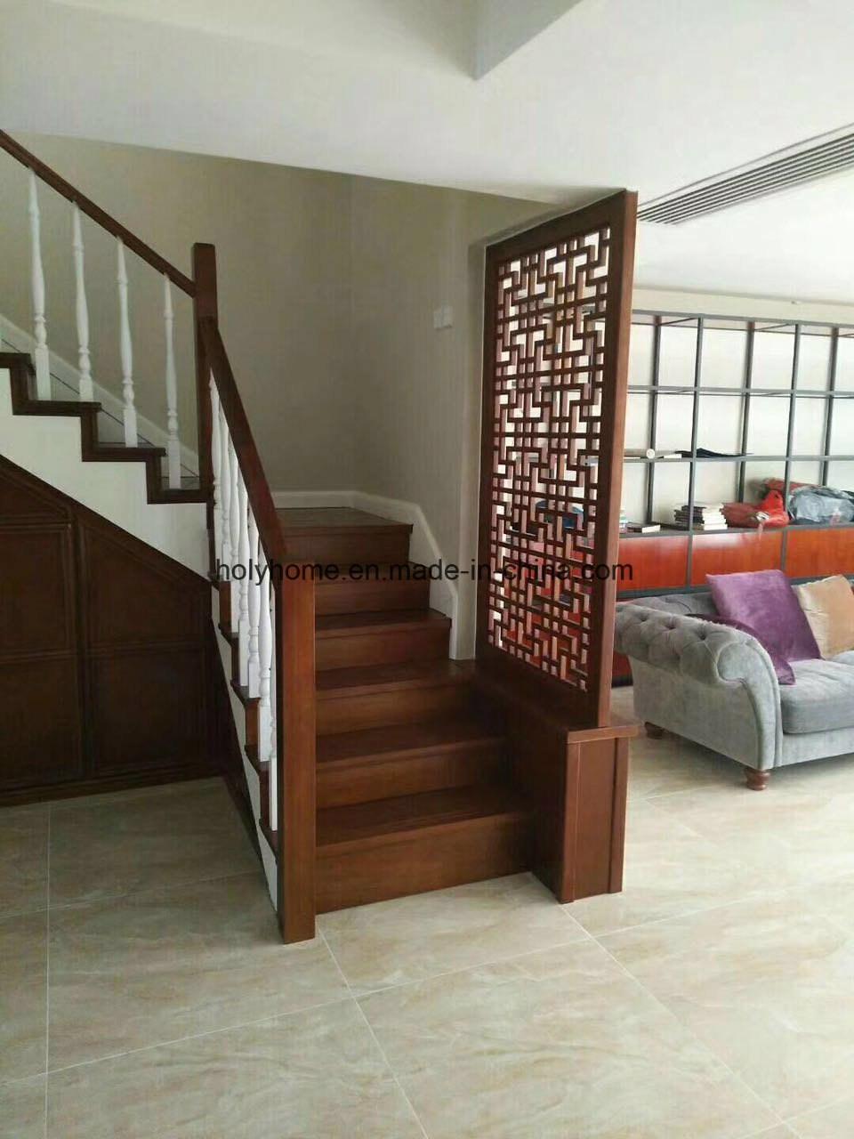 China Modern Wooden Stairs Glass Railing Wood Steps Staircase | Modern Wood Staircase Railing | Interior | Stylish | Wall Mounted | Contemporary | House