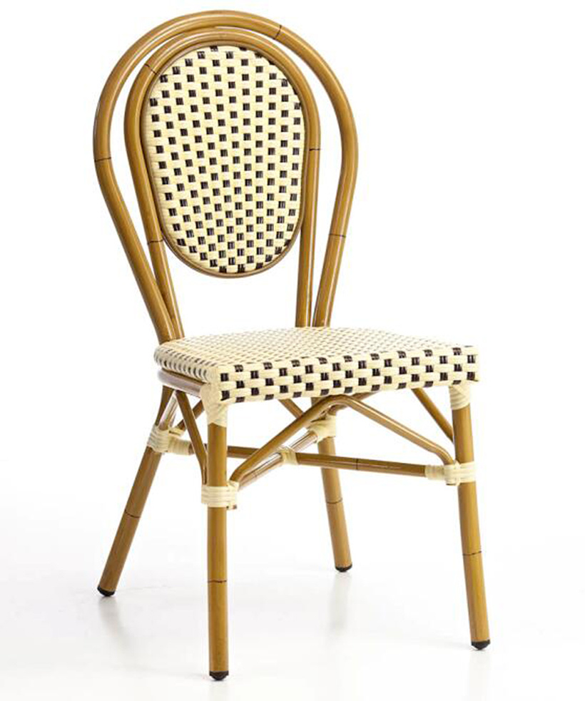 Bamboo Chairs Hot Item Outdoor Aluminum Bamboo Looking French Style Bistro Chairs Bc 07014